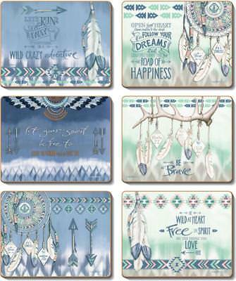 Country Kitchen GYPSY Cork Placemats/Coasters Set 6 NEW Cinnamon