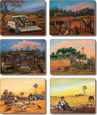 Country Kitchen KELPIE KAPERS Cork Placemats or Coasters Set 6 NEW Cinnamon