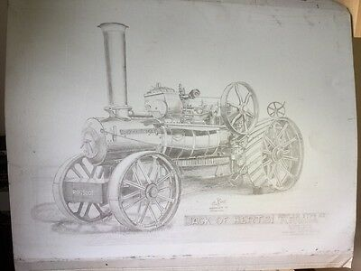 Traction Engine Litho Plate Jack Of Herts Fowler K7 Ploughing Engine