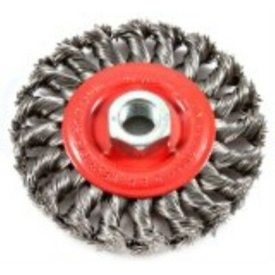 Forney 72759 Wire Wheel Brush, Twist Knot with 5/8-Inch-11 Threaded Arbor, 4-Inc