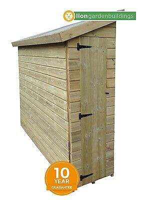 PRESSURE TREATED T&G WOODEN SHIPLAP 5 x 2 GARDEN PENT SHED REVERSE PITCH