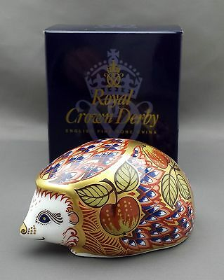 Royal Crown Derby ORCHARD HEDGEHOG Paperweight - 1st Quality Boxed