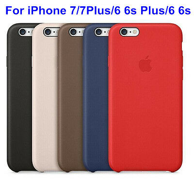 High Quality fr Apple iPhone 6 6s 7 Plus Genuine PU Leather Case Thin Back Cover