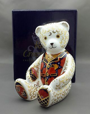 Royal Crown Derby DEBONAIR BEAR Paperweight - BOXED - Excellent Cond