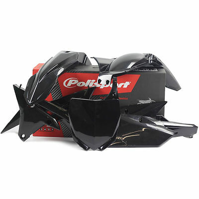 YAMAHA Polisport  MX Plastic Kit Set YZF 250 F 2014 2015 2016 2017  Black
