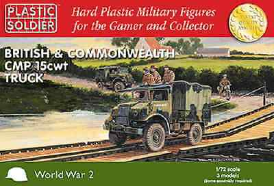 20Mm British Cmp 15 Cwt Trucks - 1/72  - Plastic Soldier Company -Ww2- In Stock