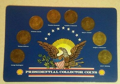 1992 SHELL PRESIDENTIAL COLLECTOR COINS - Set of 8 coins