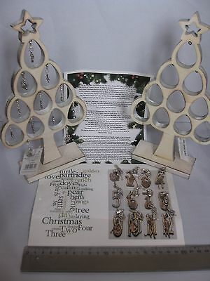 Unique 12 days of Christmas calendar decoration - lovely tibetan silver charms