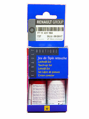 Renault Dacia Touch Up Paint Stick Set Base Coat Clear Varnish Spanish Red 727