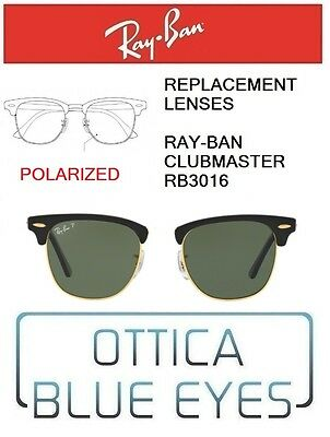 52fdc84bec Lenti di Ricambio RAYBAN CLUBMASTER RB3016 Replacement Lenses RAY BAN  POLARIZED