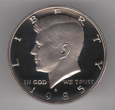 United States Half Dollar 1985 S Copper-Nickel Clad Copper Proof Coin - Kennedy