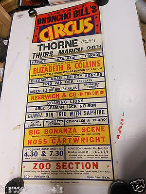 Original Circus Poster Fossett Bros Taylor Wombwell