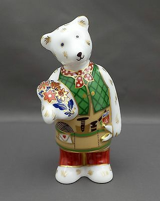 Royal Crown Derby GARDENER BEAR Paperweight 1st Quality No Box