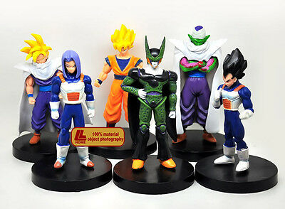 Dragon Ball Z Son Goku Gohan Vegeta Trunks Picollo Cell 6pcs Figure set Toy Gift