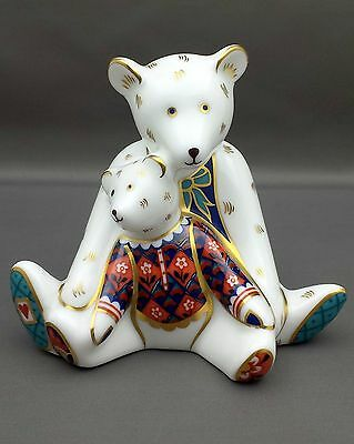 Royal Crown Derby MUMMY & CHARLOTTE Paperweight 1st Quality No Box