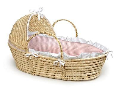 Moses Baby Basket by Badger Basket in Blue or Pink Great Baby Shower Gift