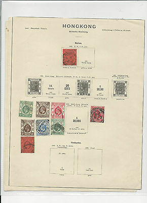 Trade Price Stamps Hong Kong On Old Album Pages