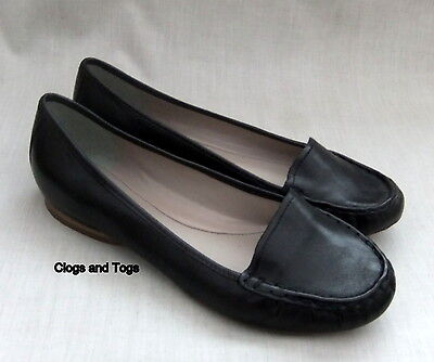New Clarks Damask Rose Womens Black Leather Shoes Pumps Size 5.5 / 39