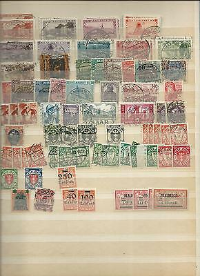 Trade Price Stamps Page 5 Of  Old  German Album Early To Modern Mint/used