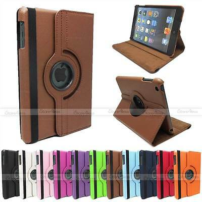360 Degrees Pu Leather Rotating Stand Case For Ipad Mini Smart Wake/Sleep Cover