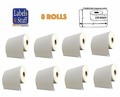 8 Rolls of 220 4x6 Shipping Postage Labels 1744907 compatible For DYMO® 4XL