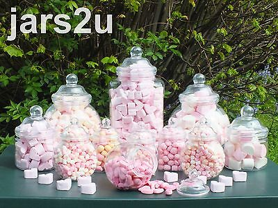 jars2u Supa Pack -12 Plastic Jar Set-2 Scoops & 100 Sweet Bags-Choose Colour Bag