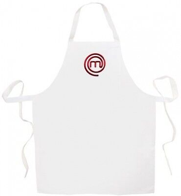 Masterchef Apron (White) Official merchandise BRAND NEW FREE Shipping