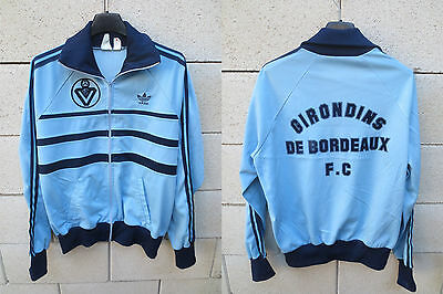 VINTAGE Veste ADIDAS GIRONDINS DE BORDEAUX 1982 First tracktop jacket football M