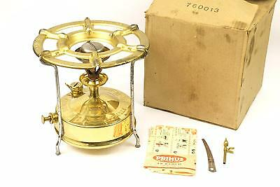 Vintage Primus No. 5 Brass Paraffin Camping Stove - In Box + Accessories