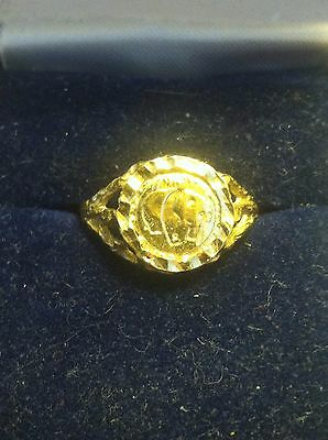 10k Gold Ring With Chinese Gold Coin