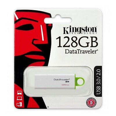 Pendrive Kingston Datatraveler G4 Usb 3.1 Gen 1/Usb 3.0 Flash Drive - 128 Gb