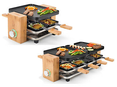 Design Raclette Partygrill, inkl. Pfännchen & Spatel, Raclette Grill Tischgrill