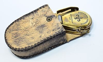 """Brass Nautical Monocular DOLLOND  LONDON   1920"""" With Leather  Cover  Replica"""