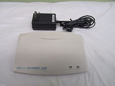 HP JetDirect 170X  Print Server With AC Adapter
