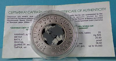 Belarus 20 Rubles 2005  Fifa World Cup 2006. Germany Silber PP