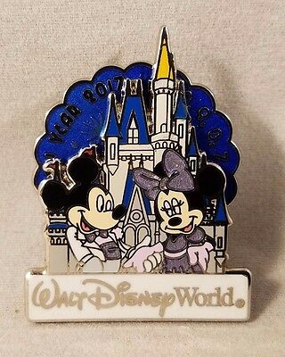Disney Pin Walt Disney World Happy New Year 2017 Mickey and Minnie Mouse