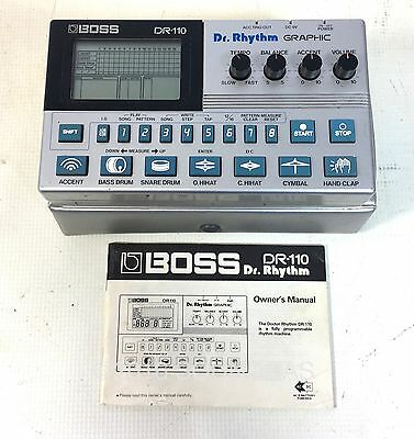 BOSS DR RHYTHM DR-110 Vintage Digital Drum Machine + Case & Manual