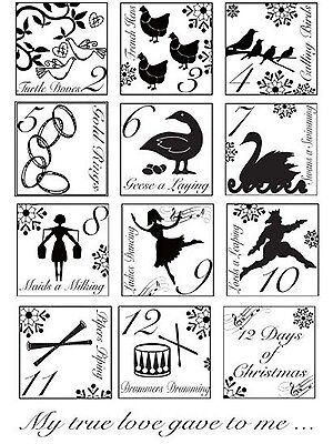 Creative Expressions Clear Stamps - 12 Days Of Christmas - CEC733 - NEW