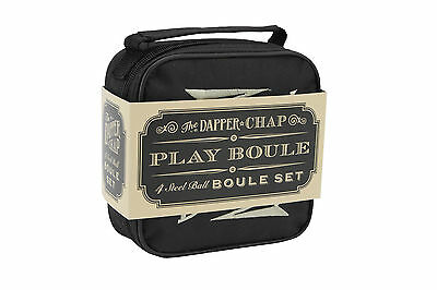 Dapper Chap 4 Steel Balls Boules Set - Petanque Set - Great Father's Day Gift