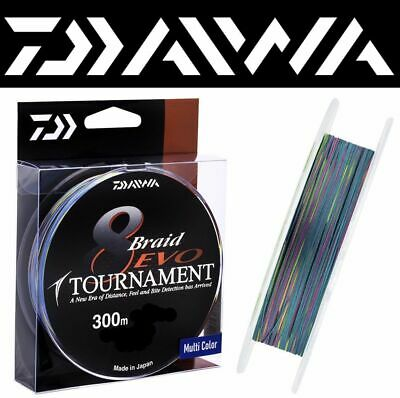 DAIWA TOURNAMENT 8 BRAID EVO BRAIDED LINE MULTICOLOR / 300m