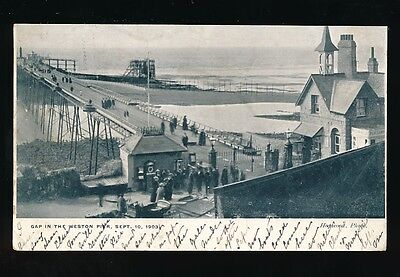 Somerset WESTON-SUPER-MARE Gap in Pier during construction? used 1903 PPC