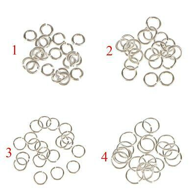 20x 925 Sterling Silver Jewelry Findings Connector DIY Necklace Open Jump Rings