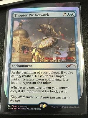 Magic The Gathering MTG Holiday 2016 Thopter Pie Network NM Christmas Card FOIL
