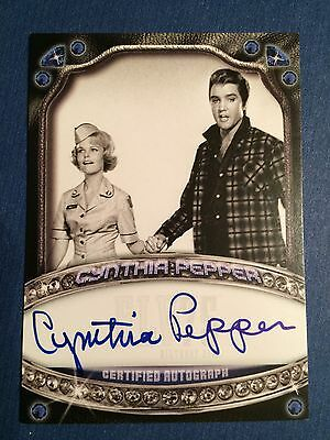 Elvis Presley Press Pass Milestones Cynthia Pepper Autographed Card!