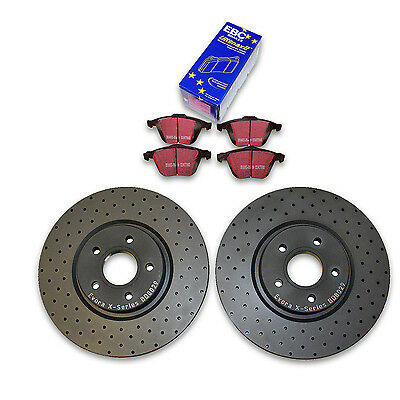 Ford Focus ST225 Front Cross Drilled Brake Discs & EBC Ultimax pads 2.5 ST