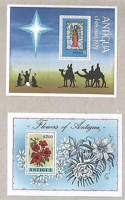 Antigua Selection of 8 Mini Sheets of Stamps MNH