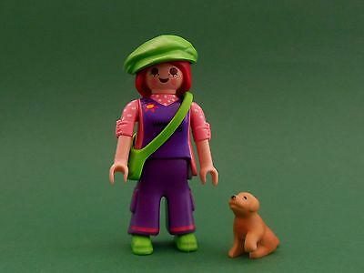 ★ Playmobil - 5538 - Serie 7 - Personnage - Fille Baba Cool Avec Chien - Neuf !!