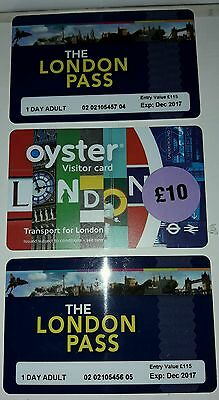 (x2) 1 day VIP London passes plus x1 travelcard.....SAVE OVER £40