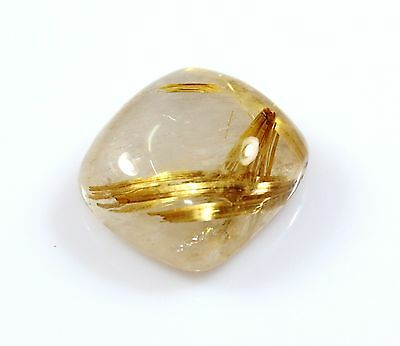 Ct 20.00 Rare Natural Golden Rutilated Quartz Cabochon Genuine Crystal Gemstone*