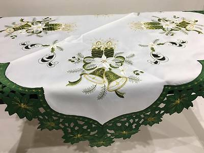 New Christmas Tablecloths Table Runner Square Green 85x85cm Table Decorations